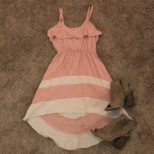 Light pink high-low dress